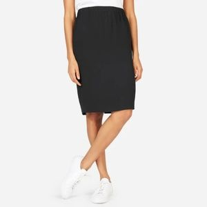 Everlane Japanese Goweave Pull-on Skirt Black